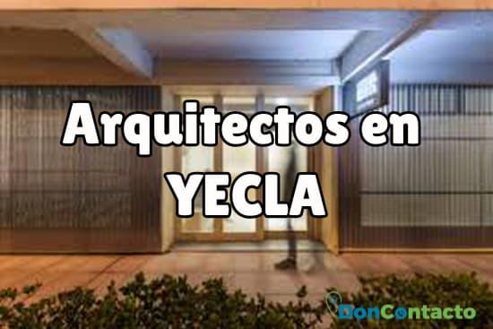 Arquitectos en Yecla
