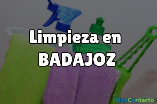Limpieza en Badajoz