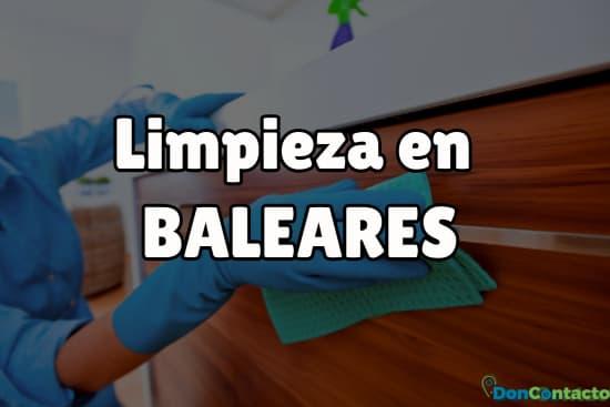 Limpieza en Baleares