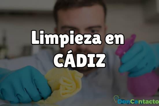 Limpieza en Cádiz