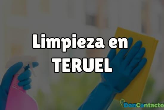 Limpieza en Teruel