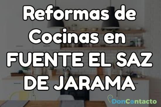 Reformas de cocinas en Fuente el Saz de Jarama