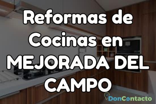 Reformas de cocinas en Mejorada del Campo