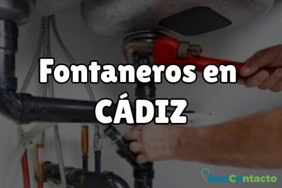 Fontaneros en Cádiz